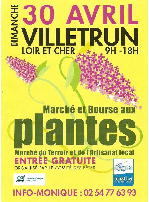 Marché aux plantes de Villetrun – Dimanche 30 avril 2017